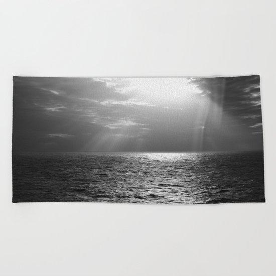 Black and White Sea Beach Towel