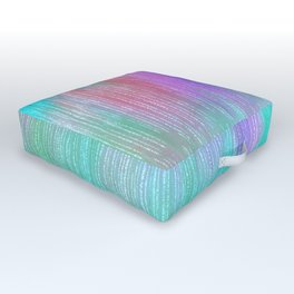 Modern abstract turquoise teal pink lilac watercolor brushstrokes Outdoor Floor Cushion