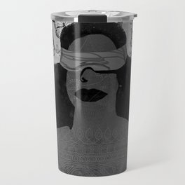A Burst of Butterflies [Black & White] Travel Mug