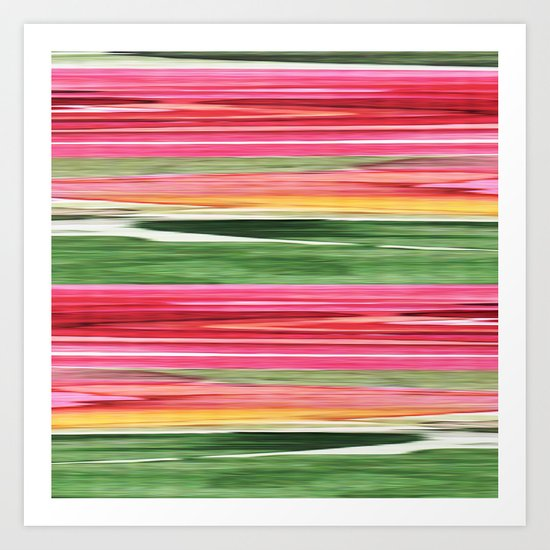 Abstract pattern . The red green . Art Print