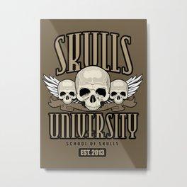 Skulls University Metal Print
