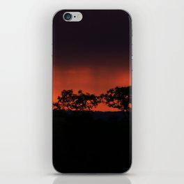 Breaking Rain at Sunset iPhone Skin