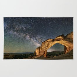 Broken Arch With The Rising Milky Way Rug