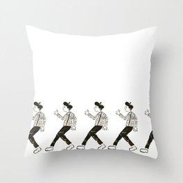 Talkless Man Throw Pillow