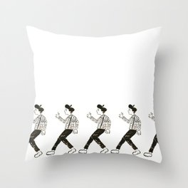 Talkless Man Throw Pillow