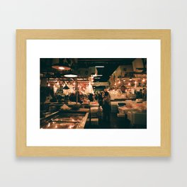Tsukiji Fish Market Framed Art Print