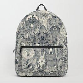 canadian animals indigo pearl Backpack