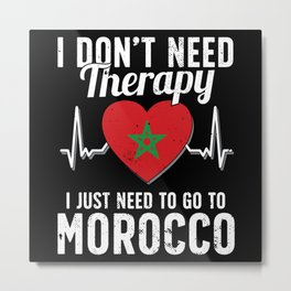 Morocco flag I Moroccan Souvenirs Metal Print