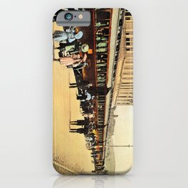 1900s Haydarpasa railroad station, train iPhone Case
