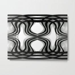 Nobel Squiggly Lines Metal Print