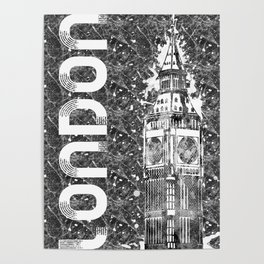 Graphic Art LONDON Big Ben Poster
