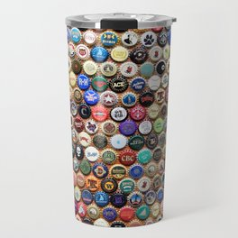 Beer and Ale Bottle Caps Travel Mug