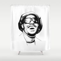 stevie nicks Shower Curtains featuring Stevie by Danny PiG