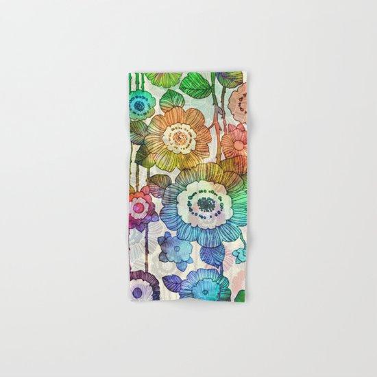 Hanging Flower Garland #2 Hand & Bath Towel