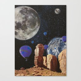 The slow trip in the universe Canvas Print
