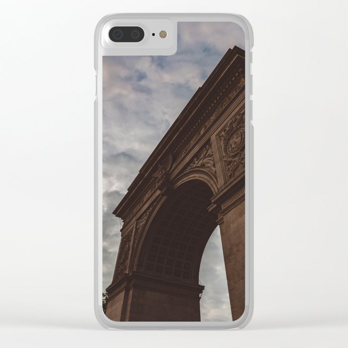 Washington Square Sunset Clear iPhone Case