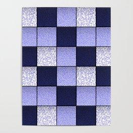 Blue Spotty Tiles Poster