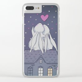 Bunny Love Clear iPhone Case