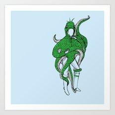 timid monster Art Print