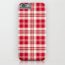 Cozy Plaid in Red and Cream iPhone Case