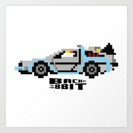 Back To The 8 Bit Art Print