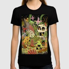 The Jungle Womens Fitted Tee LARGE Black