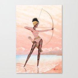 Summer Archer Guava Canvas Print
