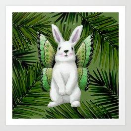Winged Bunny Art Print