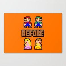 Super Mario Bros Before Hoes Canvas Print