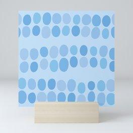 Abstract blue seamless pattern #3 Mini Art Print
