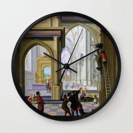 Dirck van Delen - Iconoclasm in a Church - Digital Remastered Edition Wall Clock