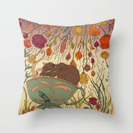 Dormant mouse Throw Pillow