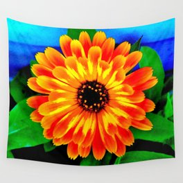 Orange Marigold Wall Tapestry