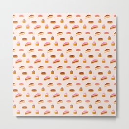 Sweet and cakes pattern Metal Print