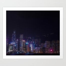 I can hear the synth Art Print