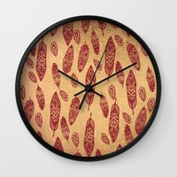 nick cave Wall Clocks featuring golden cave by ECSTATIC