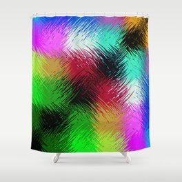 Interaction Of Colour Shower Curtain