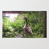 duck Area & Throw Rugs featuring Duck by Terri Ellis