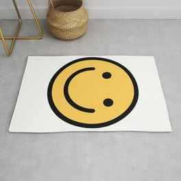 Smiley Face   Cute Simple Smiling Happy Face Rug