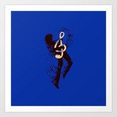 Solo (Blue) Art Print