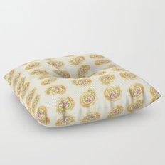 Paisley Watercolor in Tea (tan brown) Floor Pillow