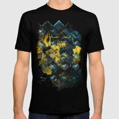 Abstract Thinking Remix MEDIUM Black Mens Fitted Tee