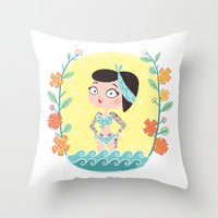 marine Throw Pillows featuring Marine by Lola Draloug