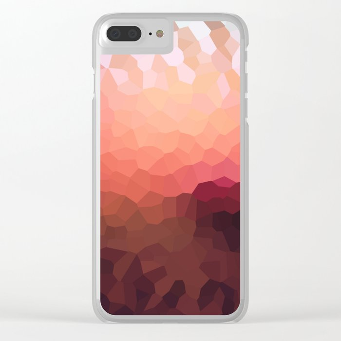Abstraction. Sunset . Clear iPhone Case