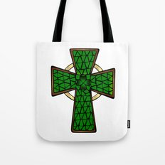 Shamrock Celtic Cross Tote Bag