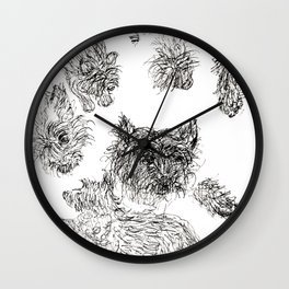Scottish Terrier - Line Drawing Wall Clock