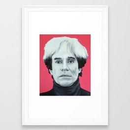 pink andy Framed Art Print