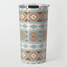 Aztec Essence Ptn IIIb Blue Crm Terracottas Travel Mug