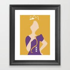 Rapunzel - Tangled Framed Art Print