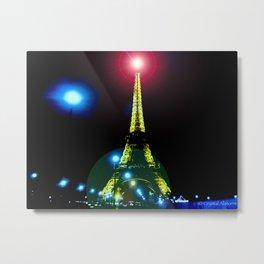 Eiffel Nights Metal Print